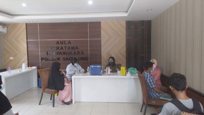 Polsek Sagulung Layani Vaksinasi Corona di Batam, Ada 20 Warga Gagal Divaksinasi