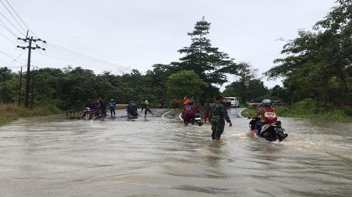 Bintan Diguyur Hujan Deras Sejak Pagi, Jalan Menuju Kawal Banjir