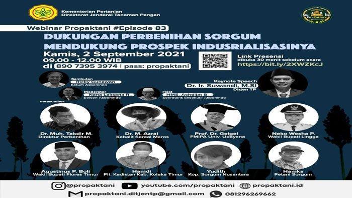 Wabup Lingga, Neko Wesha Pawelloy jadi narasumber Webinar Propaktani Kementan, Kamis (2/9/2021)