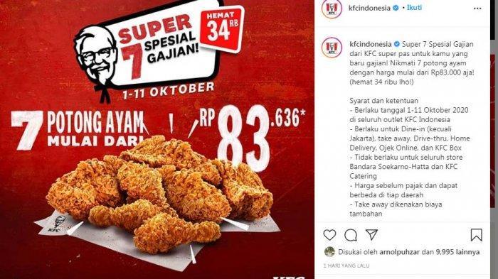 Promo Kfc Oktober 2020 Crispy Wrap Dan 7 Potong Ayam Rp 83 Ribu Juga Berlaku Di Batam Tribun Batam