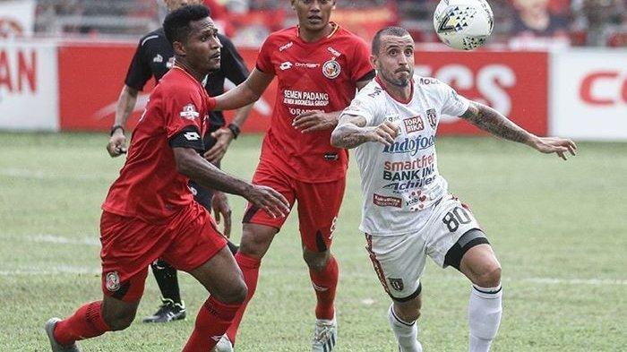 Semen Padang saat melawan Bali United pada laga pekan ke-30 Liga 1 2019.