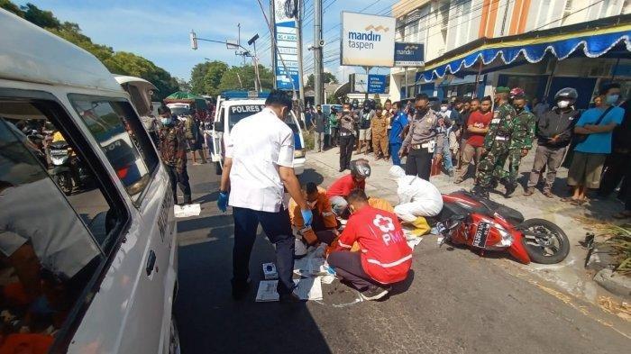 Kecelakaan Maut Hari Ini Pensiunan PNS Jatuh ke Kolong Bus Sumber Selamat