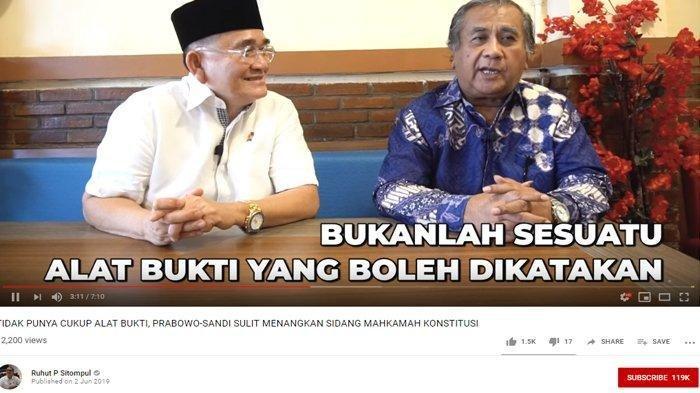 Kabar Buruk Bagi Tim BPN 02, Eks Hakim MK Ucap Jokowi-Maruf Tak Bisa Didiskualifikasi, Ini Alasannya
