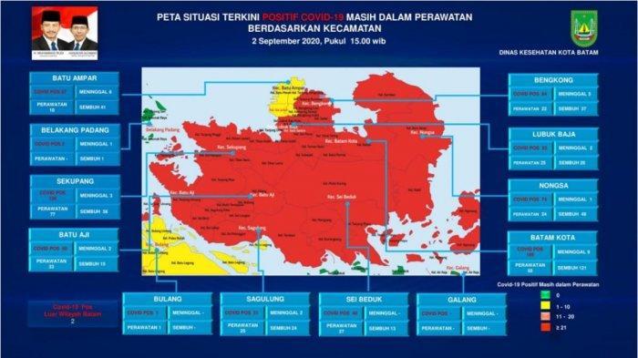 Berdasarkan data yang dirilis Tim Gugus Covid-19 Batam, 8 dari 12 kecamatan yang ada di Batam kini sudah berstatus zona merah.