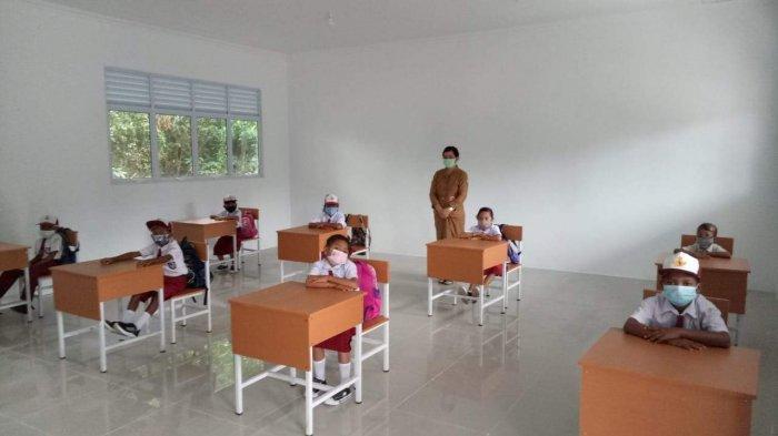 Hari ini sejumlah sekolah di Batam mulai melakukan proses belajar mengajar secara tatap muka, Senin (4/1/2021)