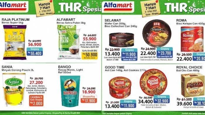 Promo Katalog Alfamart THR Spesial 4-9 Mei Hemat Kebutuhan Lebaran Kue Kaleng, Minyak Goreng, Beras