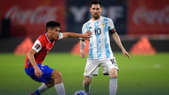 Hasil Argentina vs Chile, Gol Penalti Lionel Messi Dibalas Gol Alexis Sanchez, Argentina Imbang