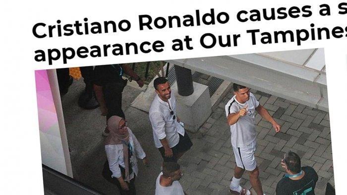 Hanya Sekejap Lihat Cristiano Ronaldo, Pelajar Singapura Ini Senang: Ini Hari Terbaik di Hidup Saya