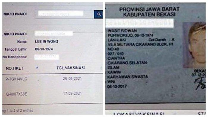 Wasit Ridwan Kaget NIK e-KTP Miliknya Dipakai Lee In Wong untuk Vaksinasi Covid-19
