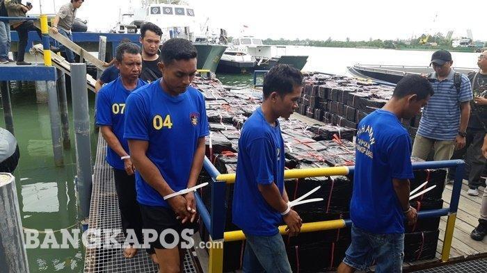 Pengakuan Kapten Kapal Soal Pemilik 12 Ribu Botol Miras dari Batam yang Disergap di Bangka