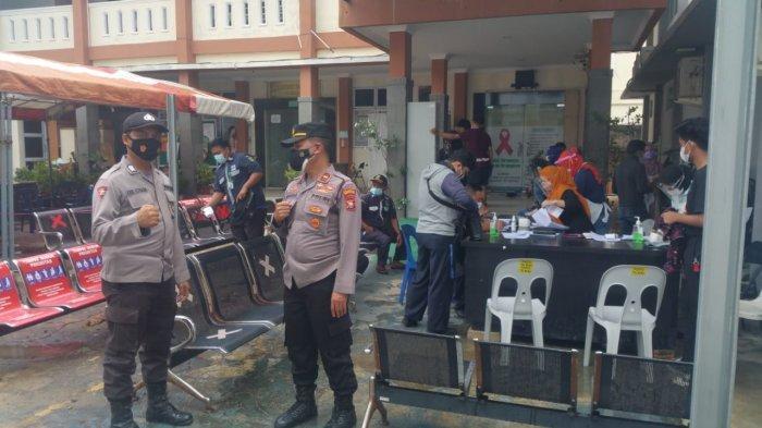 Masih di Zona Merah Covid-19, Polsek Sekupang Batam Gencarkan Imbauan Prokes