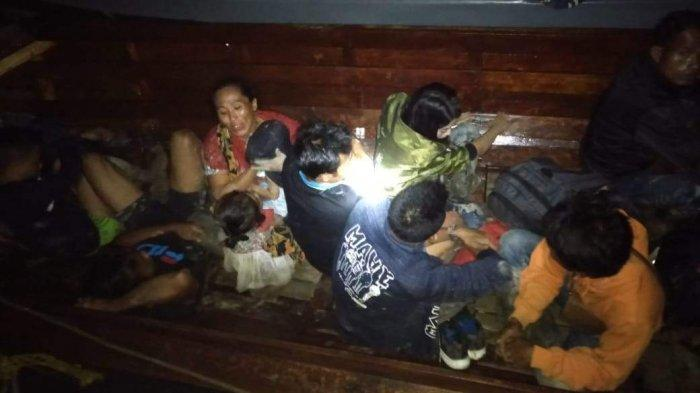 Curigai Suara Deru Mesin Pancung di Malam Hari, Tim Patroli Lanal Karimun Tangkap TKI Ilegal