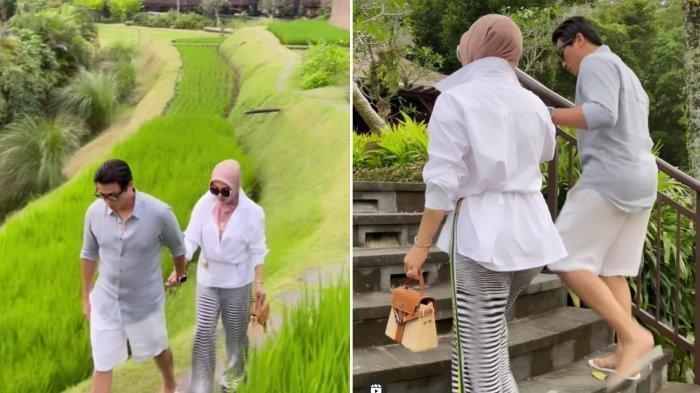 Ekspresi Syahrini Pegang Terong saat Main di Kebun Bareng Reino Barack Disorot: Ngakak