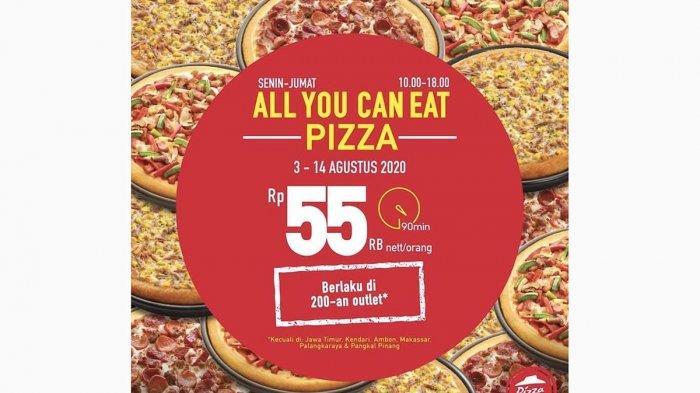 PROMO Pizza Hut di Batam, Bisa Makan Pizza Sepuasnya Harga Mulai Rp 55.000