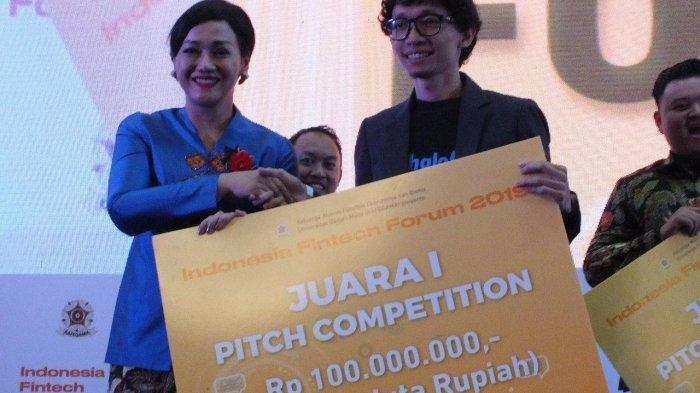 Start Up Asal Bandung, Halofina Juarai Pitching Competition KAFEGAMA Indonesia Fintech Forum 2019