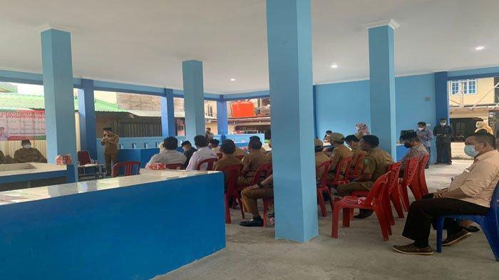 Potret bangunan baru Pasar Ikan Tarempa di Anambas yang baru diresmikan, Senin (6/9/2021)
