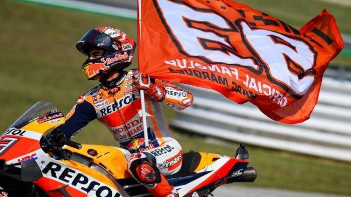 Marc Marquez Juara Dunia MotoGP 2019, Pebalap Honda Ancam Rekor Valentino Rossi