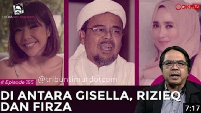 Ade Armando Sebut Gisel Harusnya Bebas Dari Kasus Pornografi, Lalu Rizieq Shihab dan Firza Husein?