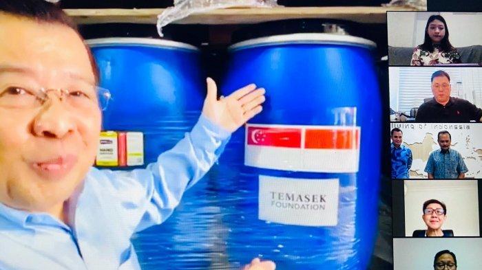 Dukung Penanggulangan Covid-19 di Batam, Yayasan Temasek di Singapura Kasih Bantuan Sanitizer