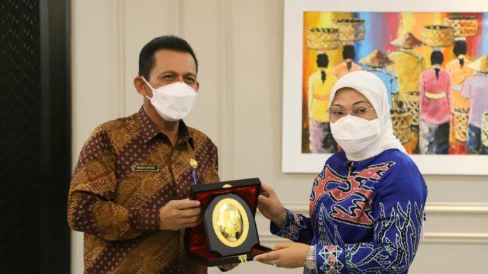 Gubernur Kepri, Ansar Ahmad seusai pertemuan dengan Menteri Tenaga Kerja RI, Ida Fauziyah di Jakarta, Jumat (7/5/2021).