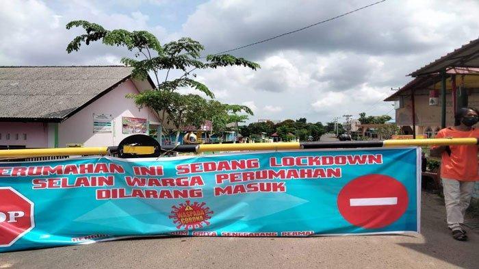 Perumahan Griya Senggarang Permai, Kelurahan Air Raja, Kota Tanjungpinang terapkan lockdown