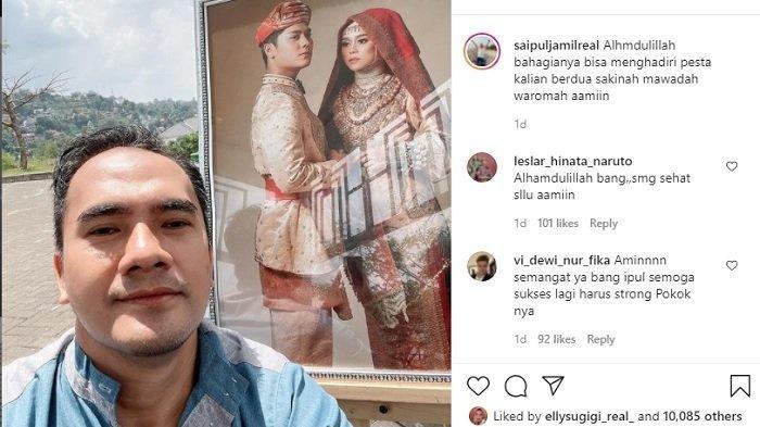 Permintaan Khusus Saipul Jamil di Kondangan Lesti & Billar, Reaksi Pengantin Disorot: Papi Minta
