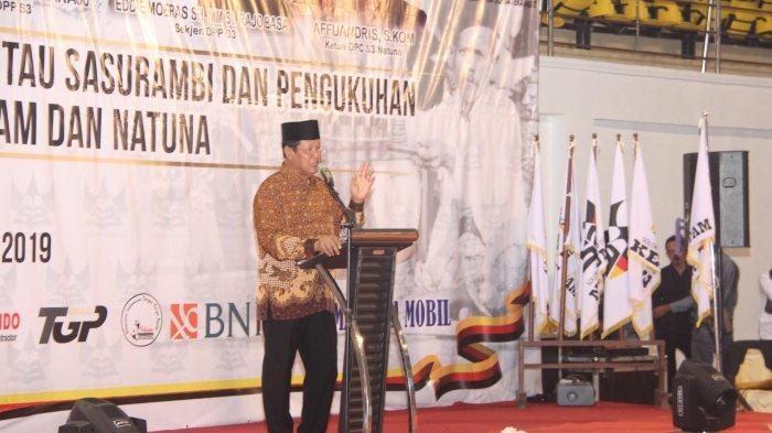 Plt Gubernur Kepri Isdianto Jumpa Warga Sumbar di Tumenggung Abdul Jamal Batam, Ini Pesannya