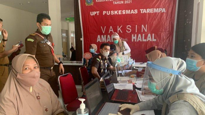 Penerima vaksinasi corona di Anambas tahap II termin I di RSUD Tarempa, Senin (8/3/2021)