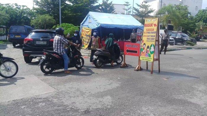 Menuju New Normal, Tak Pakai Masker ke Pasar Puan Maimun Karimun, Siap-siap Disuruh Pulang