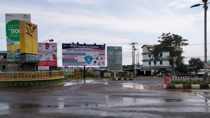 Pipa PDAM Tanjungpinang Bocor, Jalan Aspal di Kawasan Tugu Adipura Basah