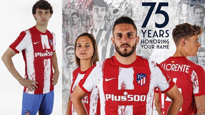 Jersey Home Atletico Madrid untuk musim 2021-2022