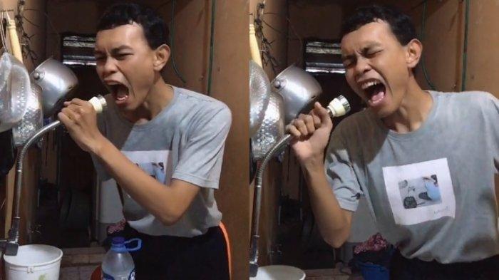 VIRAL Video Pria Lipsync Pakai Gagang Wastafel, Penuh Penghayatan Tirukan Ekspresi Agnez Mo