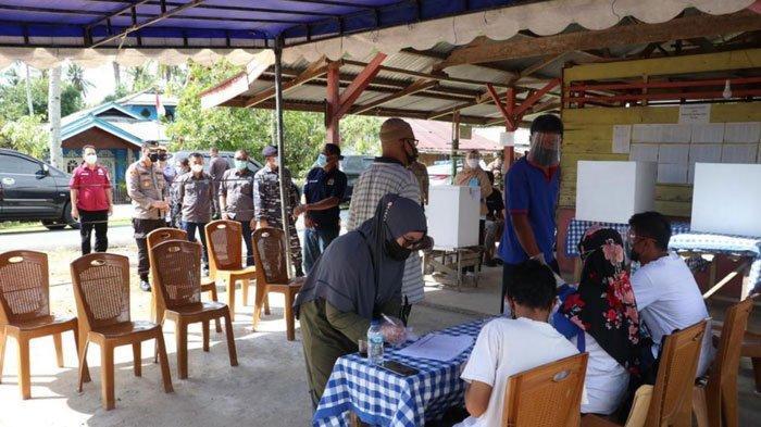 Pilkades di Lingga saat PPKM Level 3, Polres Kerahkan 110 Personil di TPS