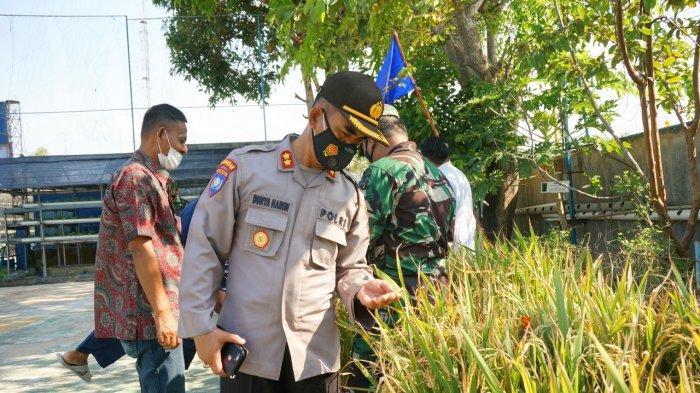 Kasat Binmas Polresta Barelang AKBP Dunya Harun saat peresmian Kampung Tangguh di SMK Hang Tuah Batam