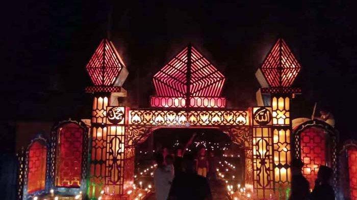 Warga Kampung Budus Lingga Meriahkan Tradisi Malam Tujuh Likur atau 27 Ramadhan