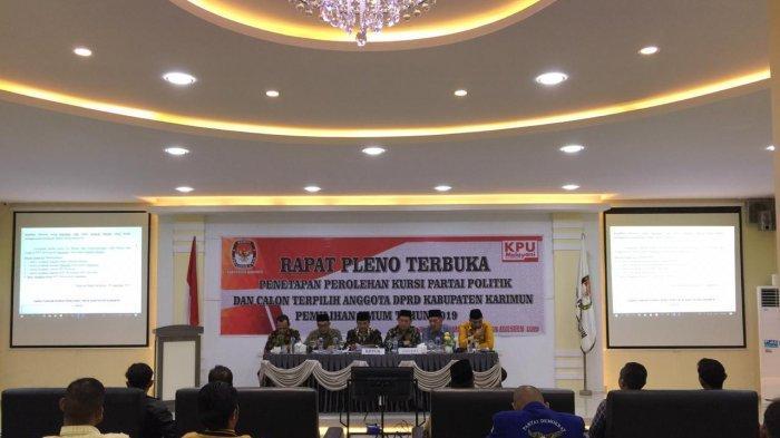 Rapat Pleno Terbuka KPU Tetapkan 30 Anggota DPRD Karimun, Siap Dilantik 29 Agustus 2019