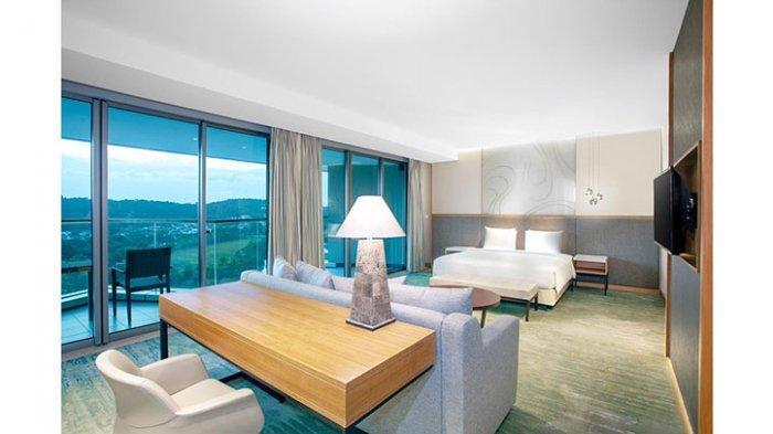 Radisson Golf and Convention Center Batam menawarkan biaya menginap Rp 780 ribu per malam untuk jenis kamar superior