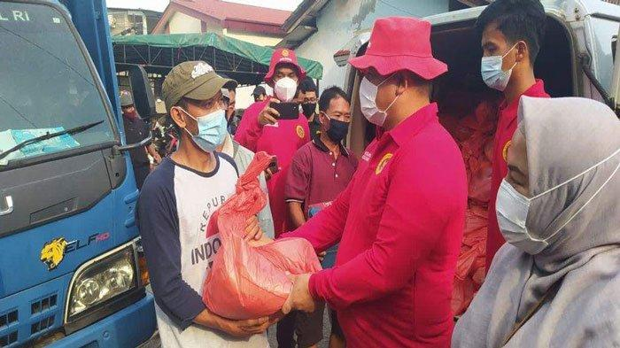 Korban Kebakaran di Baloi Mas Indah Batam Dapat Bantuan Sembako