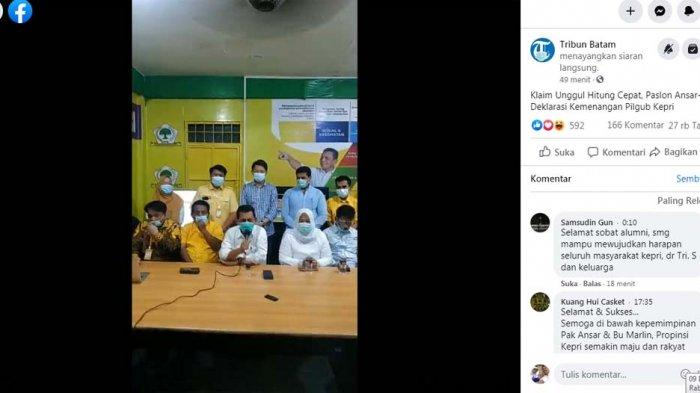 Hasil Pilkada Kepri 2020, Video Tim Ansar Ahmad - Marlin Klaim Kemenangan di Pilgub Kepri