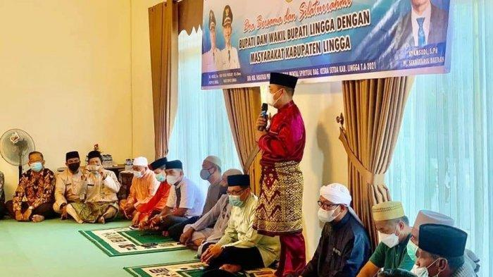 JELANG Ramadhan 2021, Pemkab Lingga Gelar Doa Bersama dan Silaturahmi dengan Warga