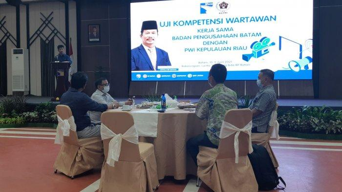 Kepala BP Batam, HM Rudi Buka Uji Kompetensi Wartawan (UKW) PWI Kepri