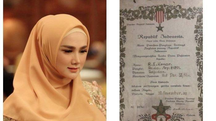 Mulan Jameela Posting Anugerah Tanda Jasa Pahlawan sang Ayah, Bukan SOSOK Prajurit TNI Biasa!