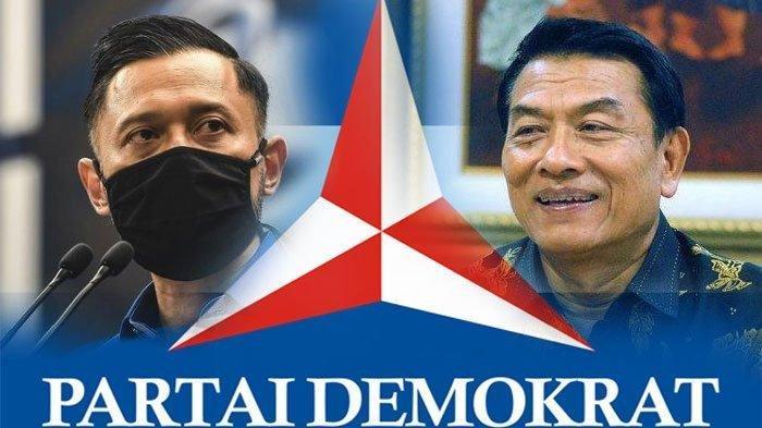 AHY dan Moeldoko yang kini jadi kisruh soal kursi Ketua Umum Partai Demokrat