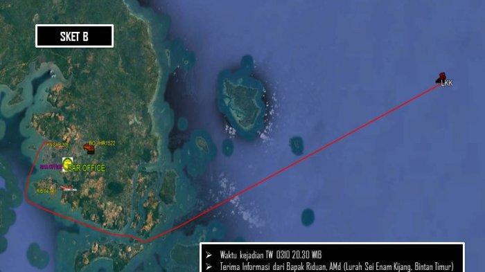 Kecelakaan Laut di Bintan, Tugboat Tubrukan dengan Pompong Nelayan, Satu Orang Hilang