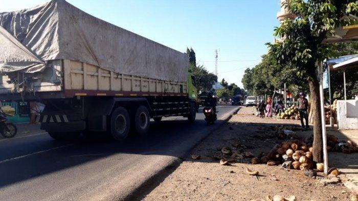 Kecelakaan Maut Kemarin Truk Tronton Tabrak Kios, Seorang Pedagang Tewas, 5 Luka Berat