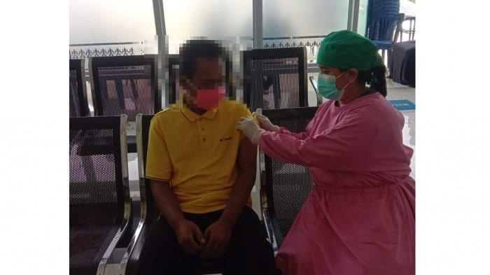 Dua Orang Dengan Gangguan Jiwa di Toapaya Bintan Ikut Divaksinasi Covid-19