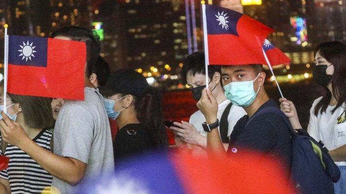 Demonstran Hong Kong Peringati HUT Taiwan, Propagandakan Kembali Republik China