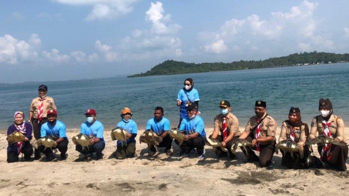 Pulau Anak Karas Batam Dapat Bantuan Infrastruktur Penyelamatan Penyu