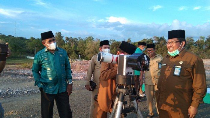 Pantauan Hilal di Bukit Tanjung Pinggir Sekupang Batam Tertutup Awan