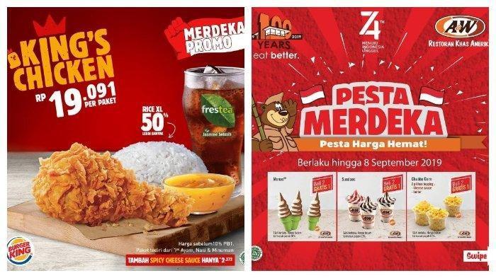 Promo dan Diskon HUT Kemerdekaan RI, Burger King hingga Ichiban Sushi